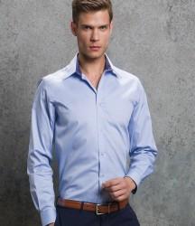 Kustom Kit Premium Contrast Long Sleeve Tailored Oxford Shirt image