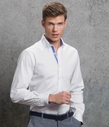 Kustom Kit Premium Long Sleeve Contrast Tailored Oxford Shirt image