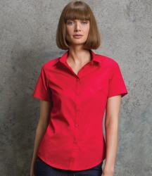 Kustom Kit Ladies Short Sleeve Tailored Poplin Shirt image