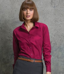 Kustom Kit Ladies Long Sleeve Tailored Poplin Shirt image