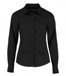 Kustom Kit Ladies Long Sleeve Tailored Poplin Shirt image