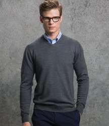 Kustom Kit Merino Blend V Neck Sweater image