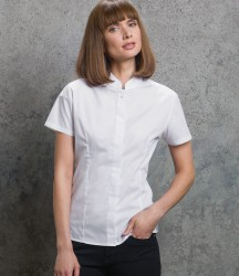 Kustom Kit Ladies Short Sleeve Tailored Mandarin Collar Shirt image