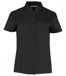 Kustom Kit Ladies Short Sleeve Mandarin Collar Shirt image