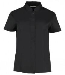 Kustom Kit Ladies Short Sleeve Mandarin Collar Shirt image