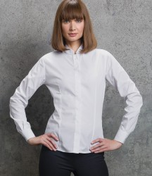 Kustom Kit Ladies Long Sleeve Tailored Mandarin Collar Shirt image