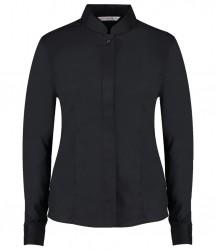 Kustom Kit Ladies Long Sleeve Mandarin Collar Shirt image