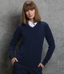 Kustom Kit Ladies Arundel Cotton Acrylic V Neck Sweater image