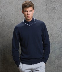 Kustom Kit Contrast Arundel V Neck Sweater image