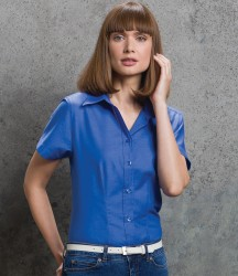 Kustom Kit Ladies Short Sleeve Tailored Workwear Oxford Shirt image