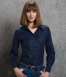 Kustom Kit Ladies Long Sleeve Tailored Workwear Oxford Shirt image