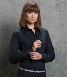 Kustom Kit Ladies Long Sleeve Tailored City Business Shirt image