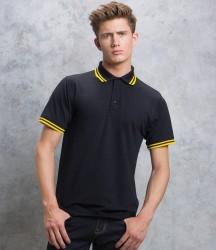 Kustom Kit Contrast Tipped Poly/Cotton Piqué Polo Shirt image
