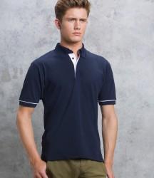 Kustom Kit Button Down Collar Contrast Piqué Polo Shirt image
