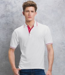 Kustom Kit St Mellion Tipped Cotton Piqué Polo Shirt image
