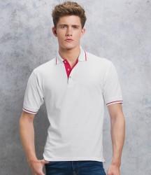 Kustom Kit St Mellion Tipped Cotton Piqué Polo Shirt image