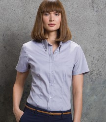 Kustom Kit Ladies Premium Short Sleeve Tailored Oxford Shirt image