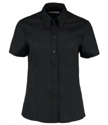 Image 7 of Kustom Kit Ladies Premium Short Sleeve Tailored Oxford Shirt
