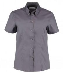Image 8 of Kustom Kit Ladies Premium Short Sleeve Tailored Oxford Shirt