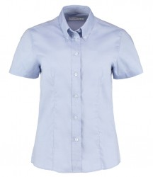 Image 9 of Kustom Kit Ladies Premium Short Sleeve Tailored Oxford Shirt