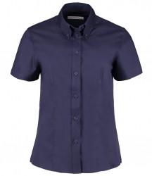 Image 2 of Kustom Kit Ladies Premium Short Sleeve Tailored Oxford Shirt