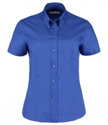 Image 4 of Kustom Kit Ladies Premium Short Sleeve Tailored Oxford Shirt