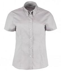 Image 5 of Kustom Kit Ladies Premium Short Sleeve Tailored Oxford Shirt