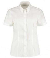 Image 6 of Kustom Kit Ladies Premium Short Sleeve Tailored Oxford Shirt