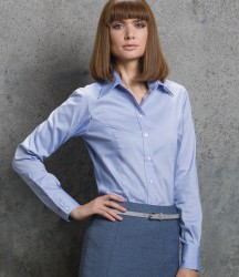 Kustom Kit Ladies Premium Long Sleeve Tailored Oxford Shirt image