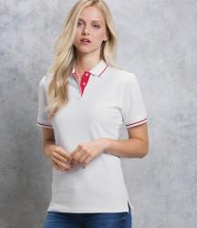 Kustom Kit Ladies St Mellion Tipped Cotton Piqué Polo Shirt image