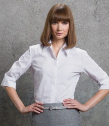 Kustom Kit Ladies 3/4 Sleeve Tailored Continental Shirt image