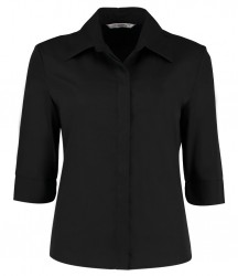 Kustom Kit Ladies 3/4 Sleeve Continental Shirt image