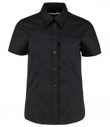 Kustom Kit Ladies Short Sleeve Corporate Oxford Shirt with Pocket image