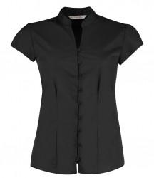 Kustom Kit Ladies Cap Sleeve V Neck Continental Blouse image