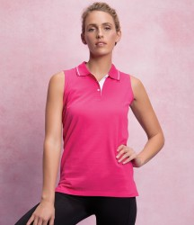 Gamegear Ladies Proactive Sleeveless Cotton Piqué Polo Shirt image