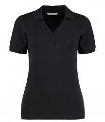 Kustom Kit Sophia Comfortec® V Neck Polo Shirt image