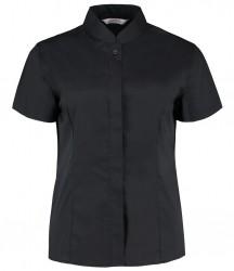 Kustom Kit Bargear® Ladies Short Sleeve Mandarin Collar Shirt image