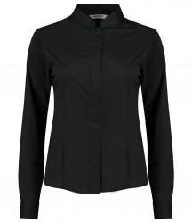 Kustom Kit Bargear® Ladies Long Sleeve Mandarin Collar Shirt image