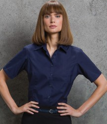 Kustom Kit Ladies Short Sleeve Tailored Business Shirt image
