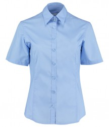 Image 4 of Kustom Kit Ladies Short Sleeve Tailored Business Shirt