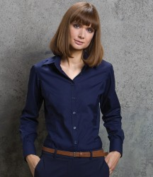 Kustom Kit Ladies Long Sleeve Tailored Business Shirt image