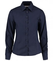 Image 4 of Kustom Kit Ladies Long Sleeve Tailored Business Shirt