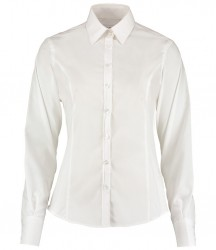 Image 2 of Kustom Kit Ladies Long Sleeve Tailored Business Shirt