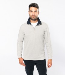 Kariban Trucker Zip Neck Sweatshirt image