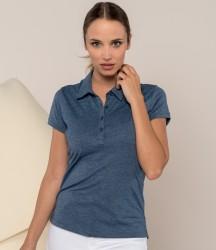 Kariban Ladies Melange Jersey Polo Shirt image