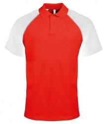 Kariban Baseball Cotton Piqué Polo Shirt image