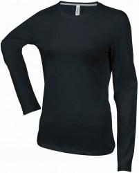 Kariban Ladies Long Sleeve Crew Neck T-Shirt image