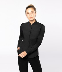 Kariban Ladies Long Sleeve Mandarin Collar Shirt image