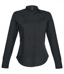 Kariban Ladies Long Sleeve Mandarin Collar Shirt image
