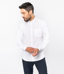 Kariban Long Sleeve Washed Poplin Shirt image